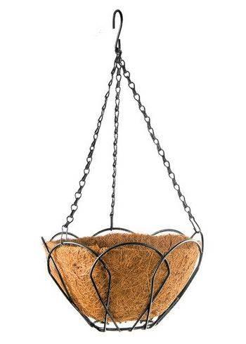 Купить Подвесное кашпо с орнаментом, 25 см, с кокосовой корзиной PALISAD