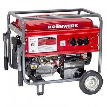 Купить Генератор бензиновый LK 6500E,5,5 кВт, 220В, бак 25 л, электростартер KRONWERK