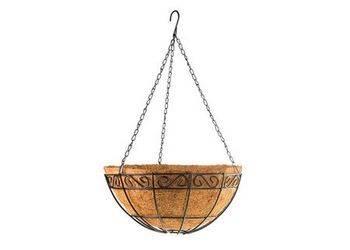 Купить Подвесное кашпо PALISAD с декором, 30 см, с кокосовой корзиной