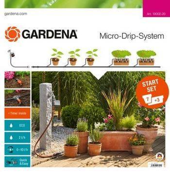Купить Комплект микрокапельного полива GARDENA базовый с таймером
