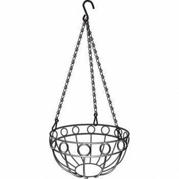 Купить Подвесное кашпо, диаметр 26 см, высота с цепью и крюком 53, 5 см PALISAD