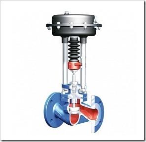 Проходной регулирующий клапан с фланцами