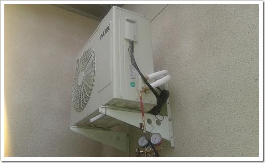 Монтаж внутреннего блока и откачка воздуха из системы