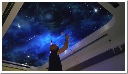 Несколько вариантов организации звёздного неба на потолке