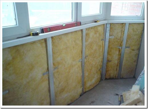 Утепление стенок и потолка балкона