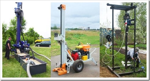 Оборудование, применяемое для роторного бурения скважины на воду