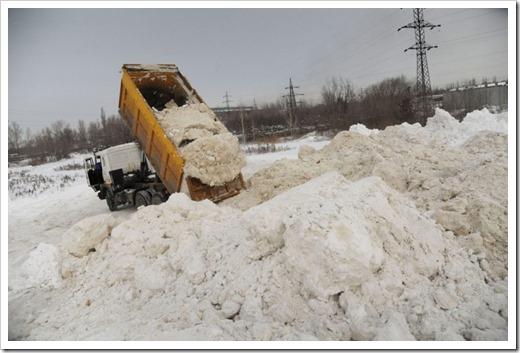 Полигоны, куда вывозят снежную массу